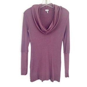 3/$30 Splendid purple cowl neck waffle knit top